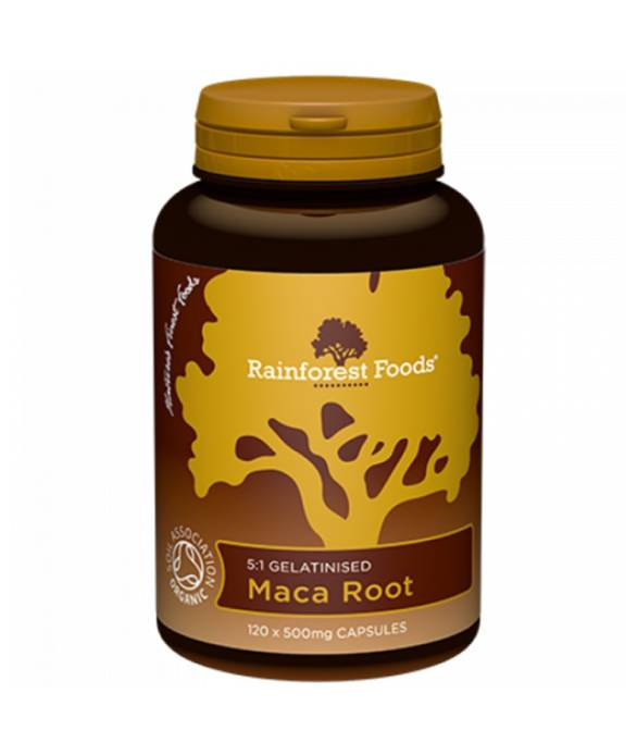 Maca BIO (120 kaps x 500 mg) -  Rainforest Foods